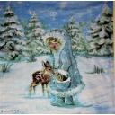 снегурочка и олененок