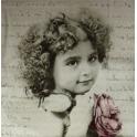 девочка с розой на письме