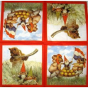 Гномы Вила Хёйгена.Гномы с хрюшками и мишкой