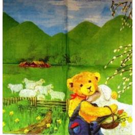 Мишка с вербочкой и овечкой