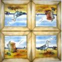 чайка, берег в  рамке