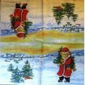 мишка Санта с елкой