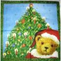 мишка Санта у елки