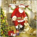 Санта с собакой