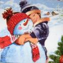 Мой милый снеговик.