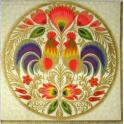 хохломские петухи (золото)