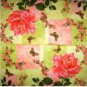 Роза, бабочки и узоры