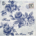 розы монохром синие