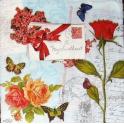 розы, бабочки, письмо