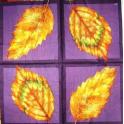 осенние листья на фиолетовом