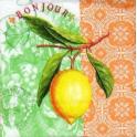 лимон на узоре