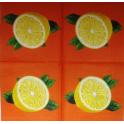 лимоны на оранжевом