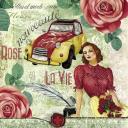 Розы, девушка и авто