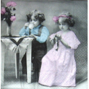 Sagen Vintage. Девочка и мальчик