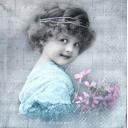 Sagen Vintage. Девочка с цветами