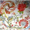 Розы, цветы и стрекозки