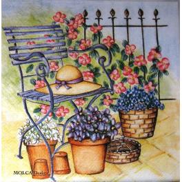 Садовая скамейка.