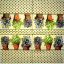 Горшки цветов с фоновым узором