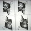Кот с мышками в глазах