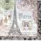Париж, текст и узоры