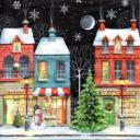 Домики и снежинки