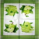 зеленые яблоки и лайм