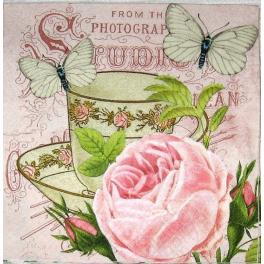 чашка с  розой