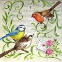три птички и ноты