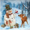 Снеговик и олененок