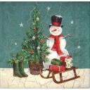 снеговик и сапожки у елочки