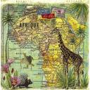 карта Африки и жираф