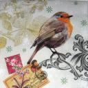 Птичка с узором