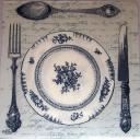Тарелка и приборы