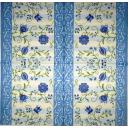 синие цветочки и голубой узорчик