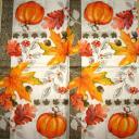 Осенние листья и тыква