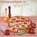 пицца с колбаской