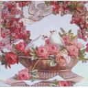 голубки в розах