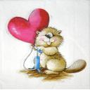 Симпатяжка  бобер с сердечком