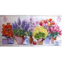 цветы в горшках и чашки
