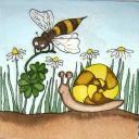 Пчелка и улиточка
