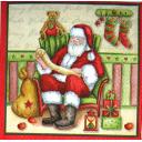 Санта в кресле
