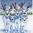 снежные олени