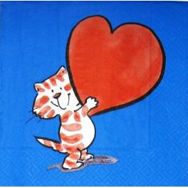 Котенок с сердечком