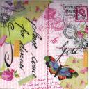 Птичка, бабочка, печати.....