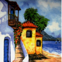 дома на берегу