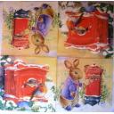 Кролик, птичка  и почта.