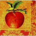 яблоко на узоре