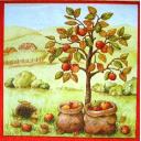ежик возле яблони