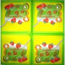 Десерт клубника и киви