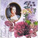Портрет и цветы